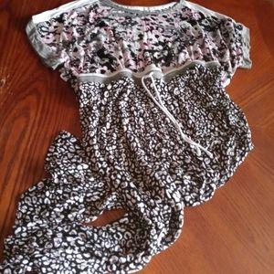 2pc Capri pajama sleepwear set sz xl